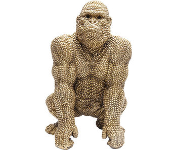 Deco Statue Golden Bubble Gorilla Monkey  - 46 cm