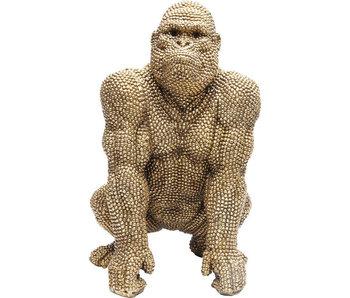 Statue Déco Singe Gorille Bulle d'Or  - 46 cm