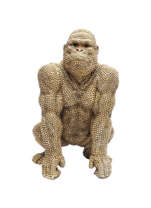 Deco Beeld Gouden Bubble Gorilla Aap - 46 cm