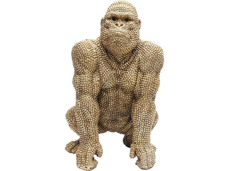 Karé Design Deco Statue Golden Bubble Gorilla Monkey  - 46 cm