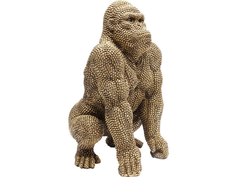 Karé Design Deco Statue 'Golden Bubble Gorilla Monkey' (46 cm)