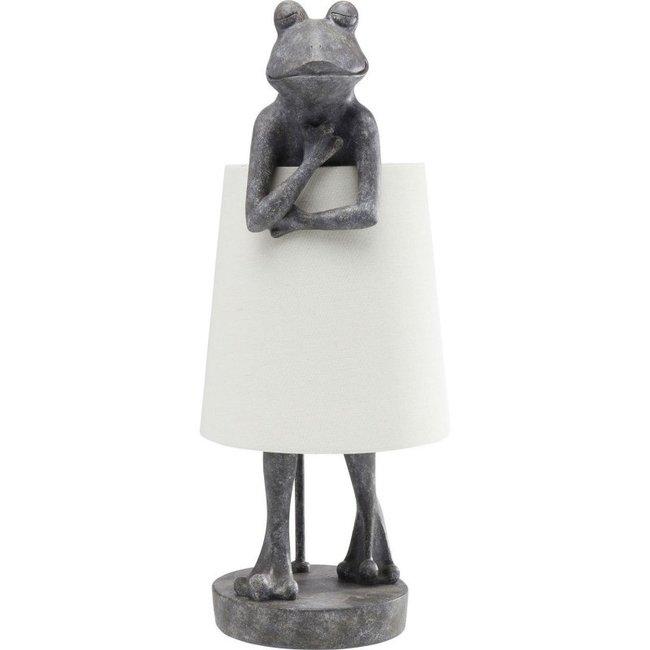 Karé Design Tischlampe Tiergrauer Frosch
