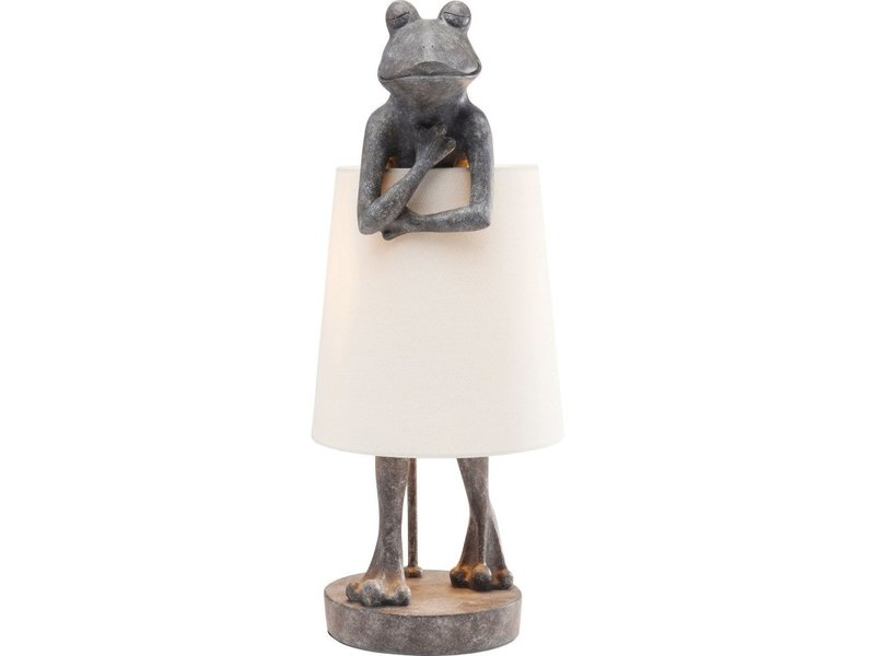 Karé Design Lampe de Table Animal Grenouille Gris
