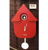 Fisura Cuckoo Clock 'Cuckoo House' (red)