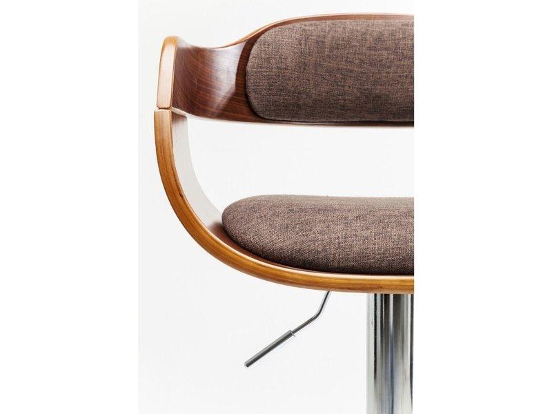 Karé Design Kare Design - Barkruk Monaco choco - verstelbaar - stof - inox