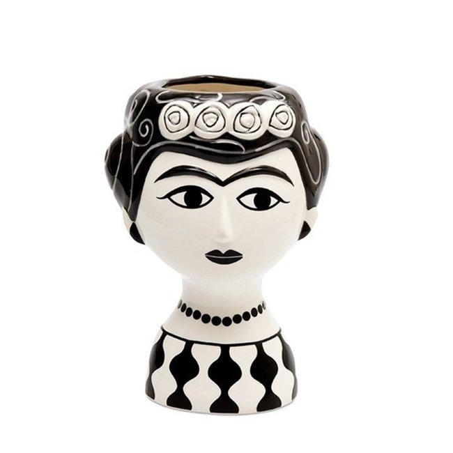 Kitsch Kitchen Vase Marisol - céramique - noir blanc