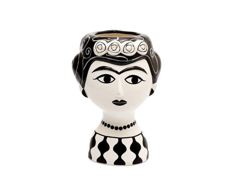 Kitsch Kitchen Kitsch Kitchen Vaas Marisol - keramiek - zwart wit