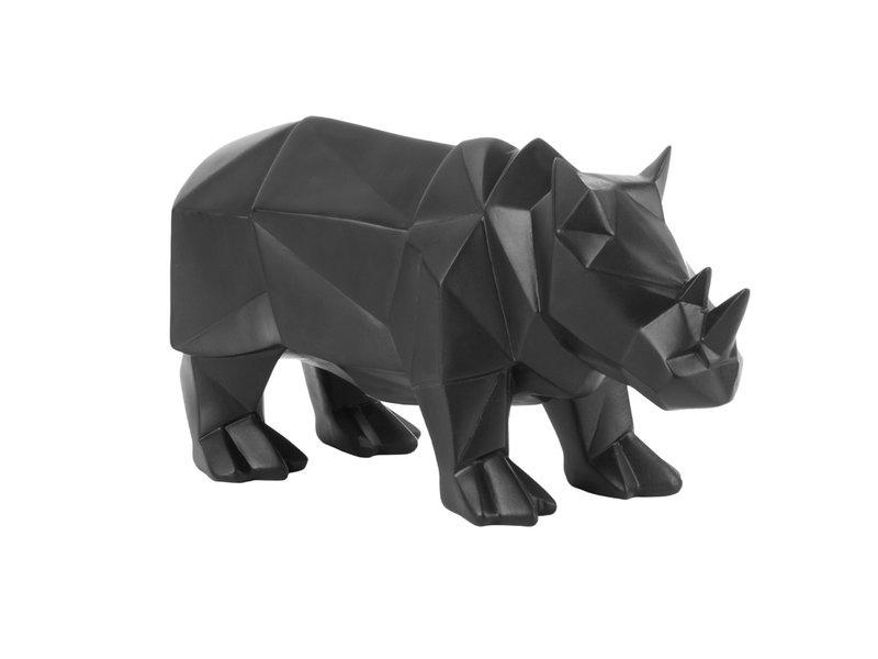 Present Time Present Time Beeld Origami Neushoorn - zwart - ornament