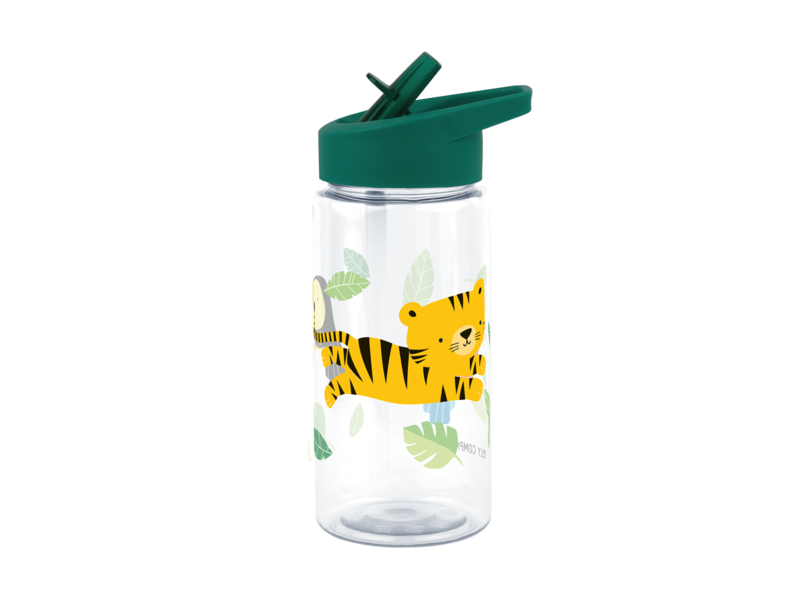 A Little Lovely Co. Water Bottle Jungle Tiger - for kids - with free stickers