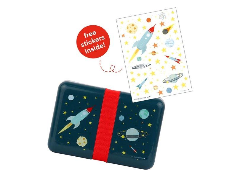 A Little Lovely Co. Lunch Box Space - for kids - plus free stickers