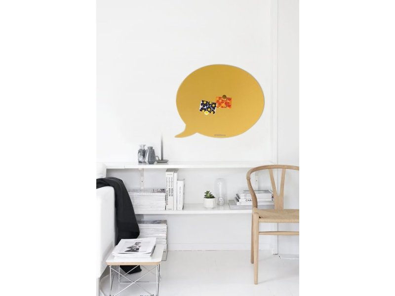 Wonderwall Wonderwall- Magnetic Board Text Balloon - sandy yellow - large