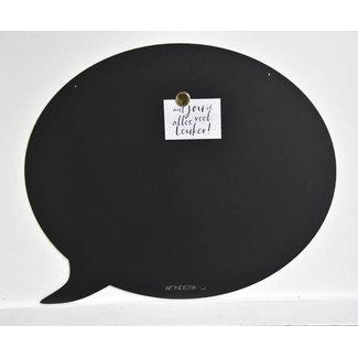 Wonderwall Magneetbord Tekstballon (zwart)