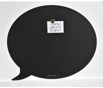 Magneetbord Tekstballon (zwart)