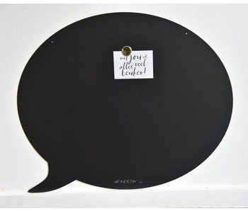 Magnetic Board Text Balloon (black)