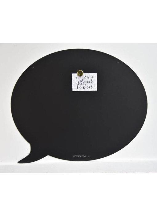 Tableau Magnétique Bulle de Texte (noir)