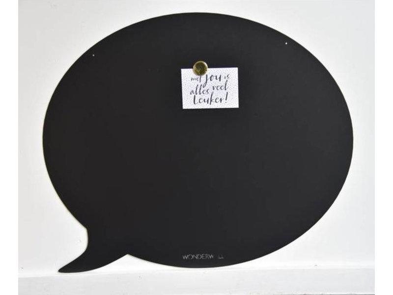 Wonderwall Wonderwall - Magneetbord Tekstballon - zwart
