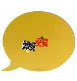 Wonderwall Wonderwall - Tableau Magnétique Bulle de Texte - jaune sable - large