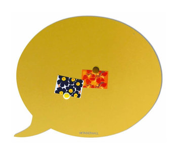 Magnetic Board Text Balloon (sandy yellow - large)