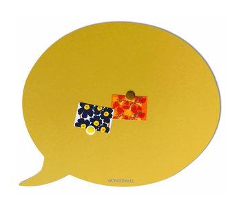 Tableau Magnétique Bulle de Texte (jaune sable - large)