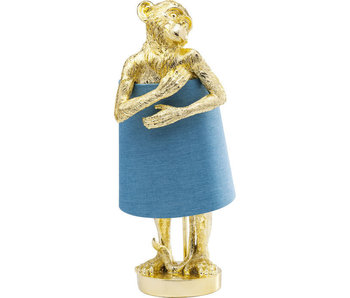 Table Lamp Animal Monkey - gold -blue