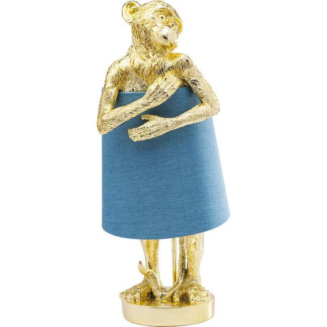 Lampe de Table - Lampe Animale Singe - or - bleu