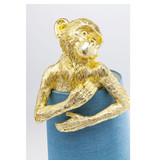 Karé Design Table Lamp Animal Monkey - gold -blue