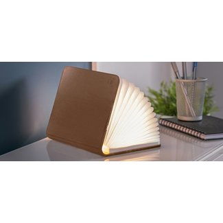 Gingko Smart Book Light - cuir brun - small