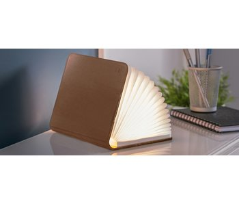 Smart Book Light - brown leather - small