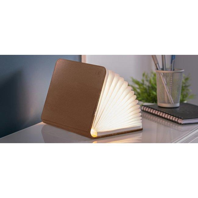 Ginko Smart Book Light - bruin leder - small