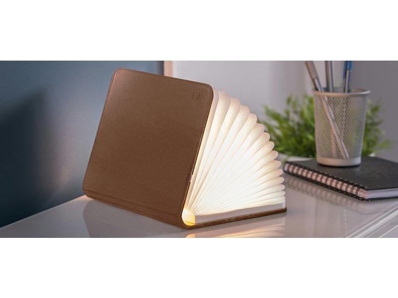 Gingko Gingko - Smart Book Light - cuir brun - small