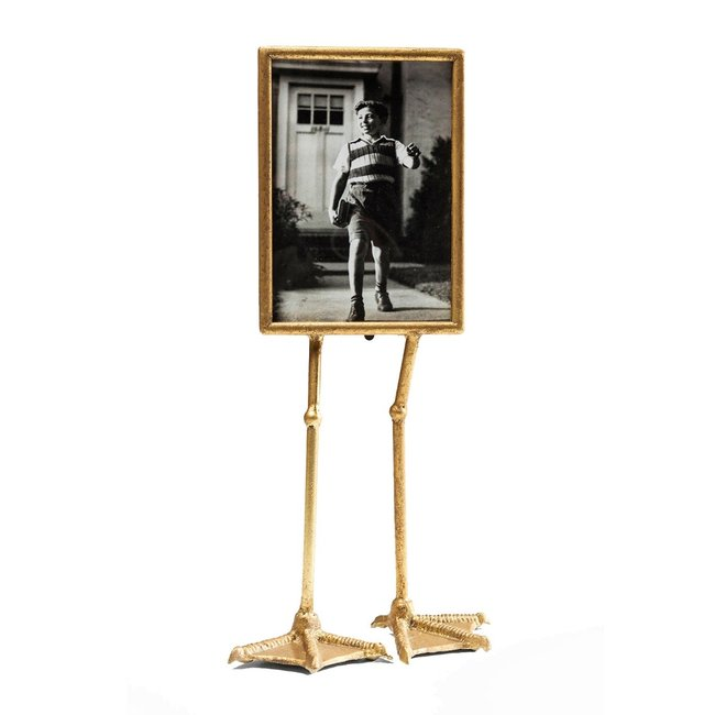 Photo Frame Duck Feet - gold - vertical