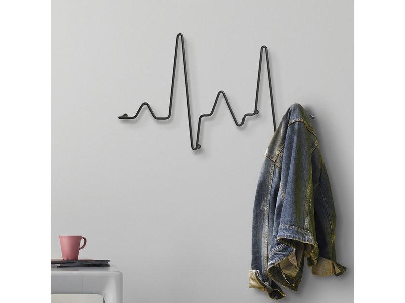 Pusher Kapstok - Wandkapstok Cardio Rack - metaal - B 51 cm