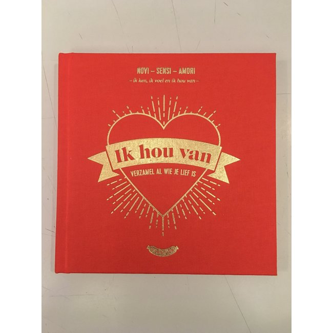Stratier Little Book 'Ik Hou Van' (I Love)