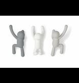Umbra Wall Coat Rack Buddy Hooks - white & grey