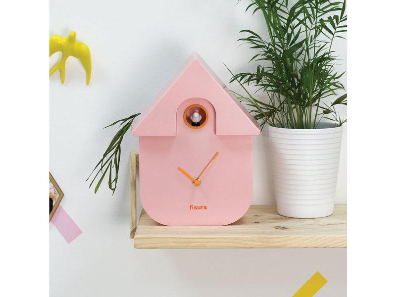 Fisura Fisura - Cuckoo Clock 'Cuckoo House' - pink