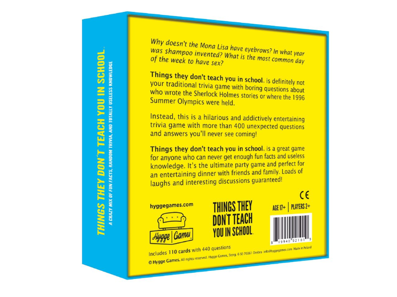 Hygge Games Party Game - Things They Don't Teach You In School