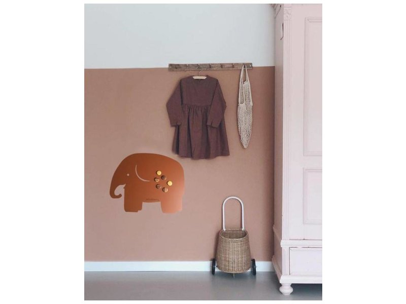 Wonderwall Magnetic Board - Memo Board Elephant - brown