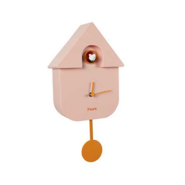 Fisura Cuckoo Clock 'Cuckoo House' - pink