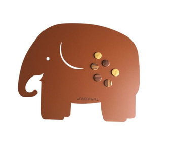 Magneetbord Olifant - bruin
