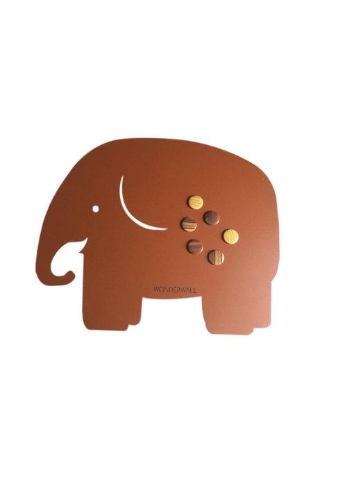 Magneetbord Olifant - bruin