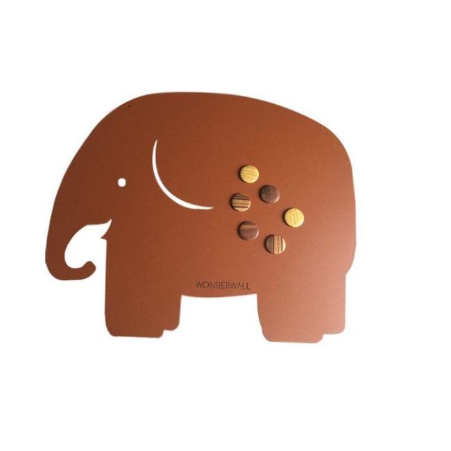 Wonderwall Tableau Magnétique Eléphant - brun