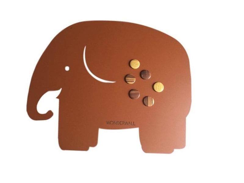 Wonderwall Wonderwall - Magneetbord - Memobord Olifant - bruin