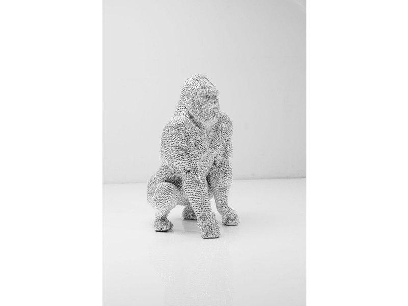 Karé Design Statue Gorilla Monkey Bubble  - silver - 46 cm