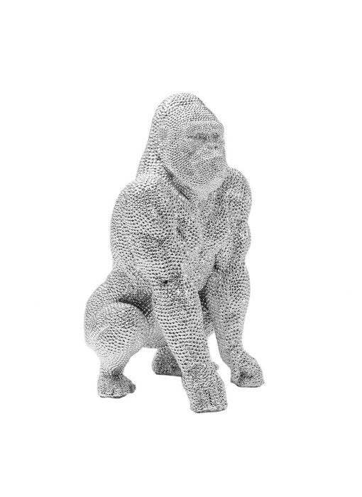 Statue Singe Gorille - bulle d'argent