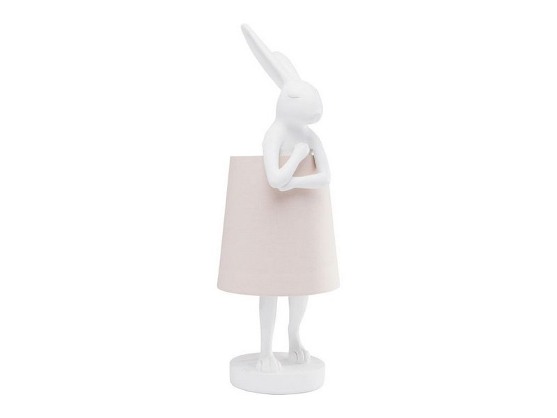 Karé Design Lampe de Table Animal Lapin Blanc