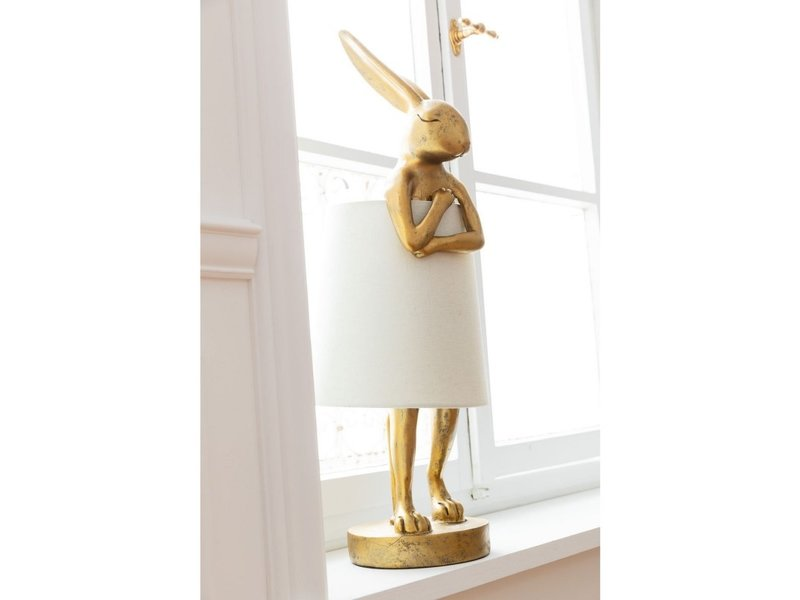 Karé Design Table Lamp Animal Rabbit - gold