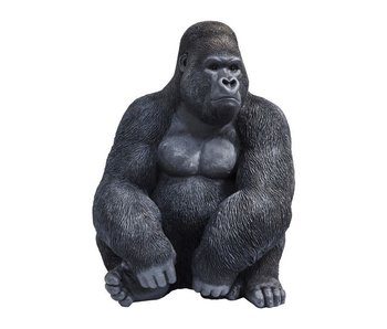 Beeld Gorilla Aap  - XL - zwart