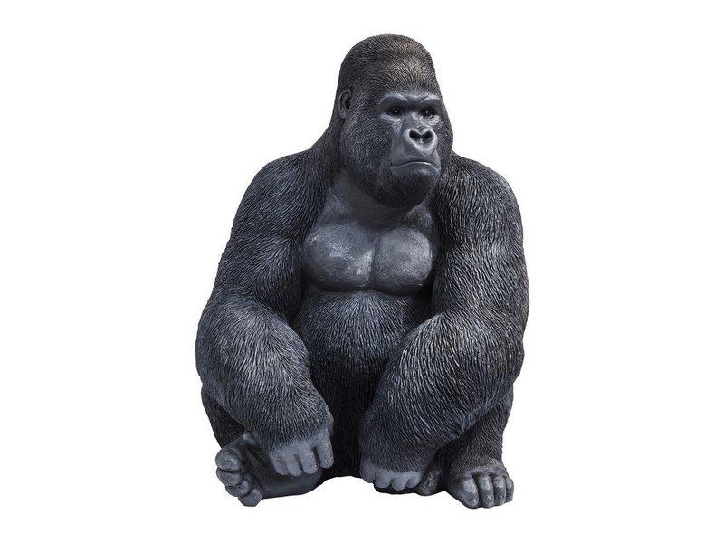 Karé Design Decoratief Beeld Gorilla Aap  - XL - zwart
