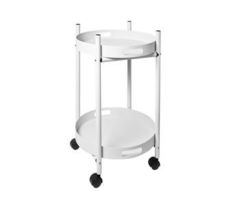Trolley Simple - wit - 2 afneembare dienbladen