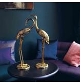 &klevering Statue Crane Birds - gold - set of 2 - H 58 cm